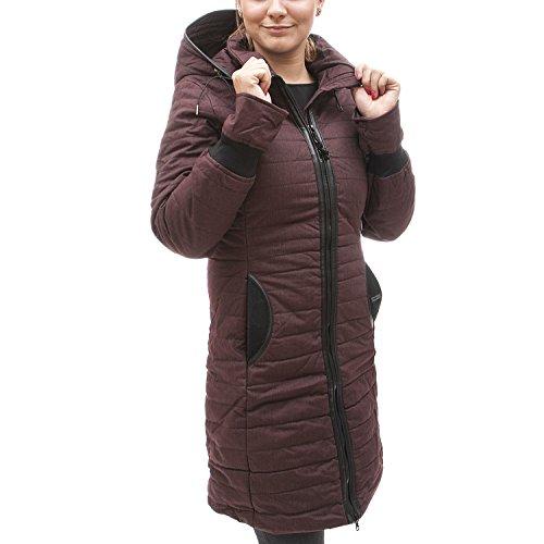 khujo Damen Mantel Daily Parka Kapuzenmantel Kurzmantel gefütterte Winterjacke Sassafra 630