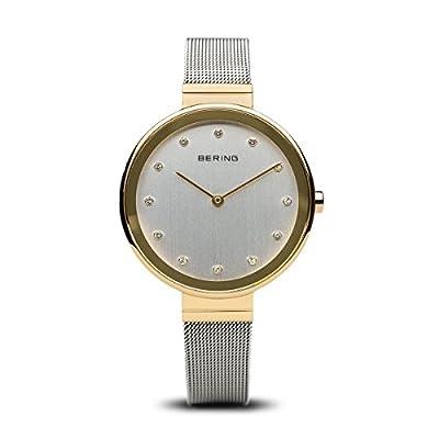 BERING Reloj Analógico para Mujer de Cuarzo con Correa en Acero Inoxidable 12034-010 de BERING