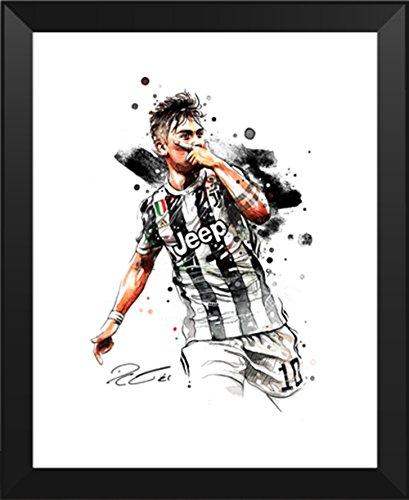 ASENER Paulo Dybala Foto-Display, Juventus Jersey Dybala Signiert Autogramm Bilder Fotorahmen,10Inch -
