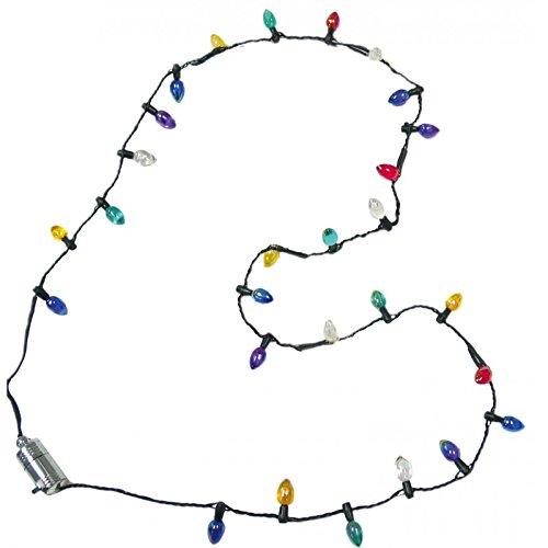 Lotsa Lites Christmas Holiday Flashing Light Bulbs Necklace (sold individually) by Carol Wright Gifts TOY (English Manual) (Lights Bulb Christmas)
