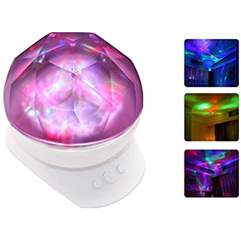 Dreamtop Colorful LED Aurora proiettore lampada da notte con altoparlante - Tropical Luce Di Notte