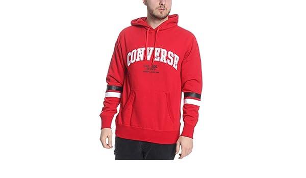 Converse Hoodie Herren Collegiate Text Pullover 10017352 Red