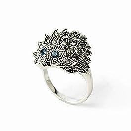 Zxllyntop Anelli da Donna personalità in Lega di Zinco personalità Vintage Modello Animale Anello di Diamanti per…