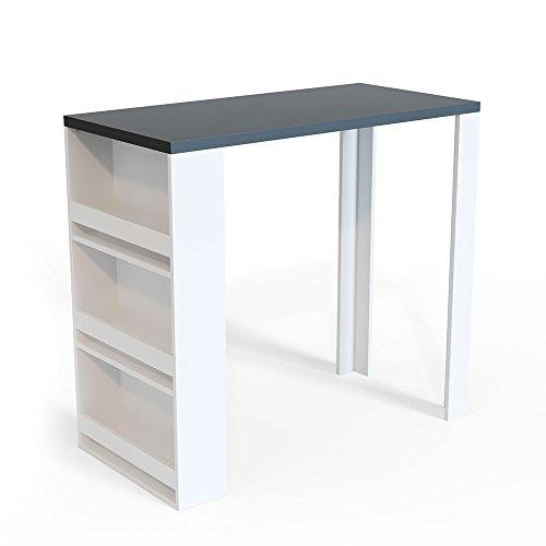 Vicco Bartisch Bar Weiß Anthrazit Tresen Bartresen Stehtisch Tisch Tresentisch Bistrotisch Küche Mir 3 Extra Fächern