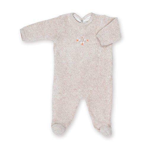 Preisvergleich Produktbild Bemini by Baby Boum 563APAW288TM Strampler Schlafstrampler Frottee APAWI jerry 3-6 m ,Beige