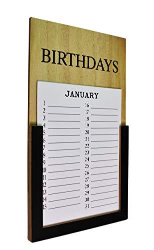 Naturtempel Geburtstagskalender Jahresunabhängig   Wandkalender für Geburtstage   Geburtstagskalender Holz   Memoboard Geburtstag Retro & Shabby Chic