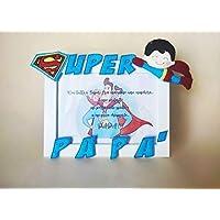 Regalo festa del papà portafoto Super Papà cornice da appoggio regalo papà