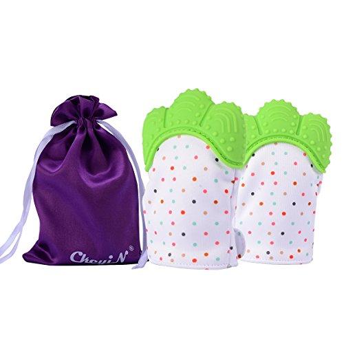Ckeyin Teething Mitten, Silikon Baby(3-18 Monate) Handschuh Neugeborenen Beißring 2 Set