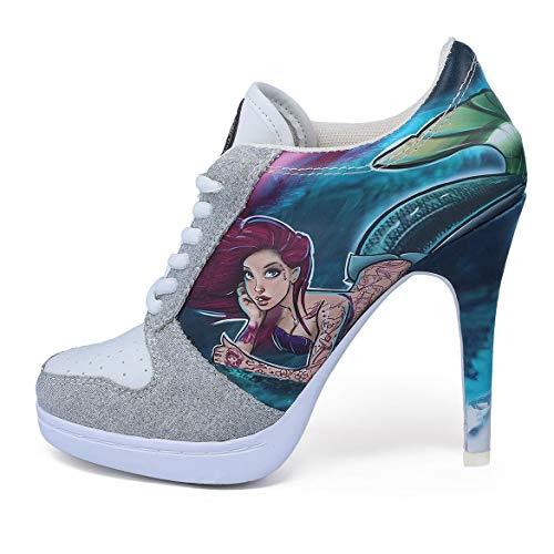 MISSY ROCKZ Underwater Love Sneaker High Heels, Größe:EU 39 / UK 6.5 / US 8.5, Absatz:10.5 cm