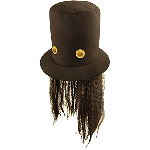 cd10a3b47eb2a 80s Slash Guitar Hero Fancy Dress Hat and Wig (peluca)