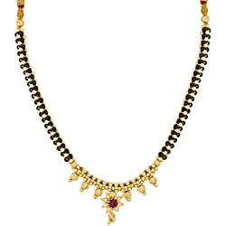 The Luxor Gold Plated Alloy With Pearls Mangalsutra Necklace For Women
