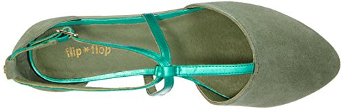 flip*flop  merida, Sandales pour femme Vert - Grün (321 turtle)