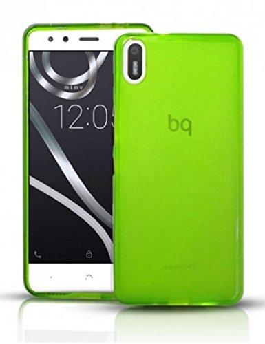 TBOC® Grün Gel TPU Hülle für bq Aquaris X5 (5.0 Zoll) Ultradünn Flexibel Silikonhülle (Nitch kompatibel mit bq Aquaris X5 Plus 5.0 Zoll)