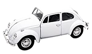 LUCKY Die-Cast 1967 Volkswagen Beetle Troquelado coleccionistas Modelo (Blanco)