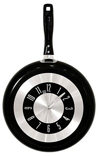 Gifts 4 All Occasions Limited SHATCHI-852 - Sartén con forma de reloj para colgar en la pared