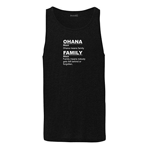 Brand88 - Ohana Means Family, Unisex Jersey Weste Schwarz