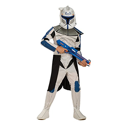 Kinderkostüm Captain Rex Clone Wars Kinder Kostüm Clone Trooper Clonetrooper Starwars Star Wars M 5-6 ()