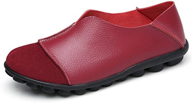 Yooeen Mocasines de Cuero Piel Mujer Moda Planos Zapatos del Barco Los Cómodos Zapatos de Conducción Casual/Suela...