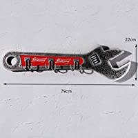 MTX Ltd American Style Retro Style Wrench Wall Decoration Wooden Clothes Hook, Home Bar Car Shop Personality Wall Decoration