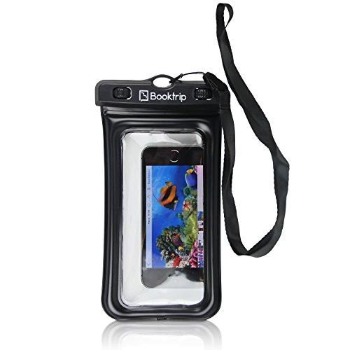 Wasserdichte Handyhülle Atlantis von Booktrip® / Unterwasserhandyhülle für Smartphones bis zu 6 Zoll Display / bis zu 20 Meter wasserfest dank geprüfter IPX8 Qualität / staubdichte Handy-Schutzhülle