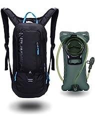 10L Mini Bicicleta mochila impermeable,Jarvan paquete de hidratación con mochila 2L bolsa de agua bicicleta de esquí bolsa de esquí Biking, respirable hombro mochila ligero para los deportes al aire libre acampar corriendo