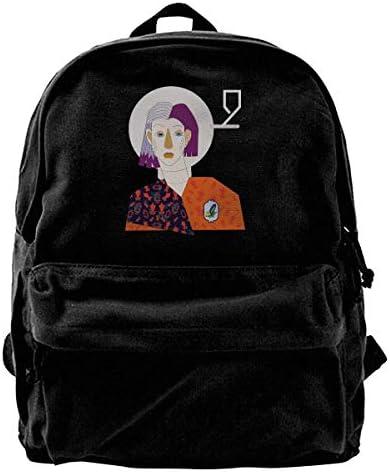 Who I Am Canvas Shoulder Backpack Backpack     & Femme Teens College Travel ypack Black B07KT31FDQ | D'ornement  8e83a7