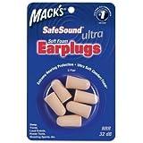 Macks Safesound Ultra - Soft foam earplugs - 3 pairs 32db
