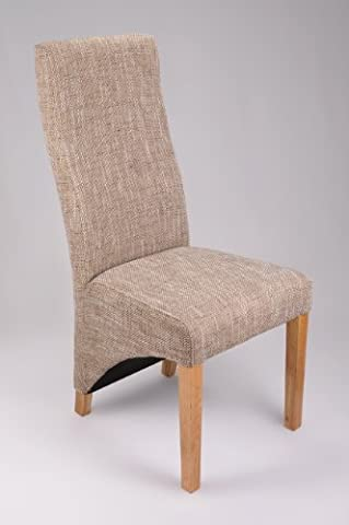 Pair of Baxter Tweed Dining Chairs