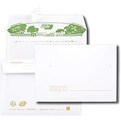 Paquet de 40 enveloppes extra blanches 100% recyclées C6 114x162 80 g/m² bande de protection
