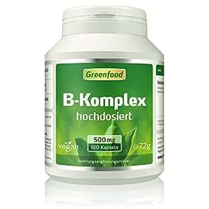 B-Komplex 50, hochdosiert, 120 Kapseln – alle Vitamine der B-Gruppe. Für einen klaren Kopf (B5), mehr Energie (B12) und schöne Haut und Haare (B7). OHNE künstliche Zusätze. Ohne Gentechnik. Vegan.