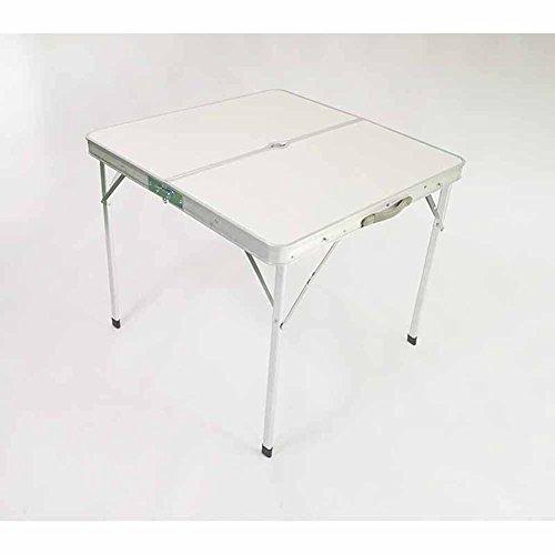 ZYH Chaise pliante extérieure de Tableau, petite table carrée Table de pique-nique simple ménage Mahjong Table Storage Rack alliage d'aluminium Matériel Haute qualité