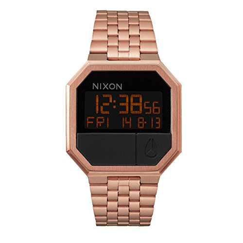 Nixon Damen-Armbanduhr Re-Run All Rose Gold Digital Quarz Edelstahl A158897-00