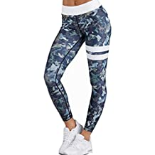 Damen Hose Internet Fitness Elastische Leggings Yoga Workout Hohe Taille Hosen