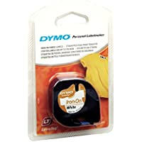 Dymo S0718840 - Cinta, 12 mm x 2 m, color negro y blanco
