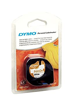 Dymo Letratag Fabric Label Tape, 12 Mm X 2 M Roll - White 0