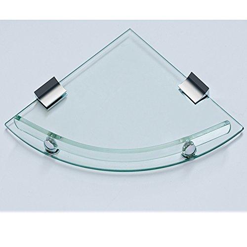 Dreieck Regal gehärtetes Glas Dicke 8mm Bad für den Einsatz ( Farbe : Pugno libero )