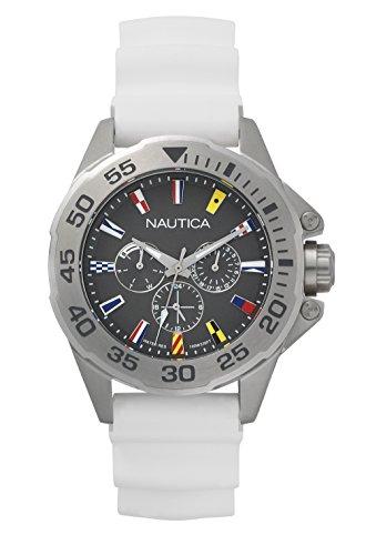 Nautica orologio analogico classico quarzo uomo con cinturino in silicone napmia002