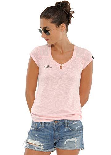 Damen Mädchen Kinder, Tshirt Langarm - Luna Shirt Chalk pink m ()