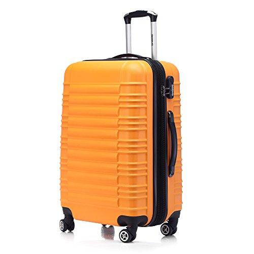 Zwillingsrollen 2088 Reisekoffer Koffer Trolleys Hartschale in XL-L-M in 14 Farben Orangen