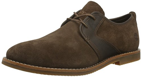Timberland Men's Brooklyn Park Leathe Oxfords, Brown (Potting Soil), 9.5 UK