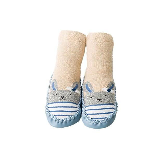 Calcetines de bebé, AMEIDD Calcetines de bebé niña niño Calcetines de algodón Antideslizantes Medias Calientes para… 1