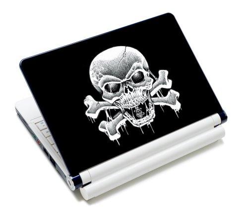(Luxburg® Design Aufkleber Schutzfolie Skin Sticker für Notebook Laptop 10 / 12 / 13 / 14 / 15 Zoll, Motiv: Totenkopf)
