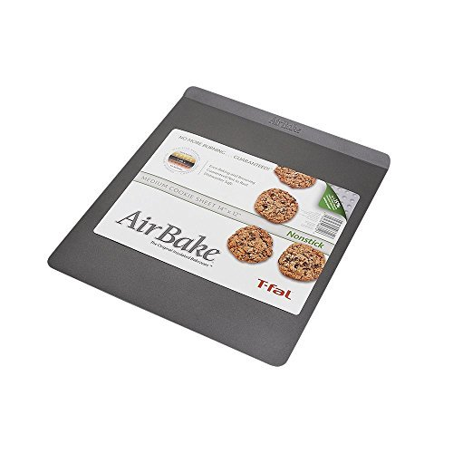 Airbake Non-Stick Medium Cookie Sheet, 14 x 12in by T-fal Wearever Non-stick