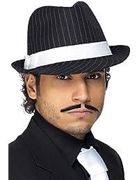 Smiffys Chapeau feutre Deluxe, à fines rayures noires et blanches
