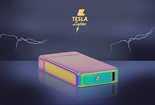 Tesla-Lighter T11 Lichtbogen Feuerzeug USB Feuerzeug wiederaufladbar Double Arc Regenbogen -