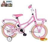 Zonix Mädchen Hollandrad Pastell-Rosa 12 Zoll mit Frontträger