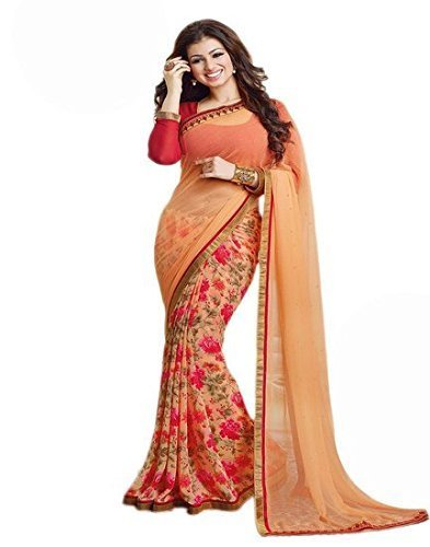 S R Fashion New Arrival Women's Georgette Saree With Blouse