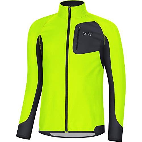 GORE Wear R3 Herren Trikot Partial GORE WINDSTOPPER, XL, Neon-Gelb/Schwarz