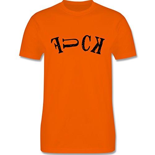 Statement Shirts - FUCK - Herren Premium T-Shirt Orange