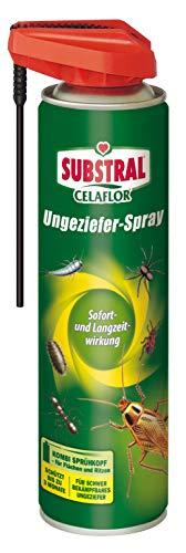 Celaflor Ungeziefer-Spray, Kontaktspray gegen schwer bekämpfbares Ungeziefer mit Sofort- und Langzeitwirkung, geruchlos, 400 ml Sprühdose -